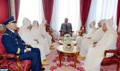 HM King Mohammed VI, Commander of the Faithful, receives, in Rabat royal palace, members of the official delegation heading for the Holy Sites of Islam to perform pilgrimage