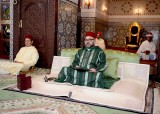HM King Mohammed VI, Commander of the Faithful, chairs in the royal palace of Rabat the first religious lecture of the holy month of Ramadan