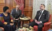 HM King Mohammed VI receives, at the Casablanca Royal Palace, UN High Commissioner for Human Rights (HCHR) Navi Pillay