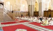 HM King Mohammed VI, Commander of the Faithful, performes the Friday prayer at the Hassan II Mosque in Casablanca