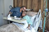 HM King Mohammed VI Visits Abderrahmane Youssoufi in Hospital for Pneumonia, in Casablanca