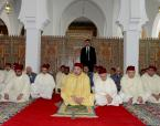 "HM King Mohammed VI, Amir Al Mouminine, dedicates at the university neighborhood (Madinate Al Irfane) in Rabat the new ""Al Oukhoua Al Islamiya"" mosque where the Sovereign performes the Friday prayer"