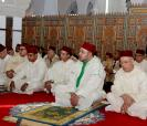 HM King Mohammed VI, Commander of the Faithful, performes the Friday prayer in the Al Amal mosque in Casablanca
