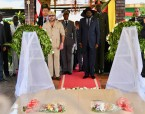 HM the King Visits John Garang Mausoleum in Juba