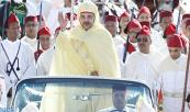 HM King Mohammed VI, Commander of the Faithful, chairs, at the Mechouar square in the Royal palace of Rabat, the allegiance ceremony on the occasion of the 15th throne day anniversary