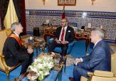 HM King Mohammed VI receives, at the Royal Palace in Tangiers, Chairman of Boeing Commercial Airplanes Raymond L. Conner