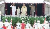 HM King Mohammed VI chairs, at the Mechouar square in the Royal palace of Rabat, the oath-taking ceremony of officers who graduated from various military and para-military schools and institutes, and of officers who were promoted
