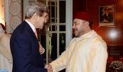HM King Mohammed VI receives, at the Royal palace of Casablanca, US secretary of state, John Kerry