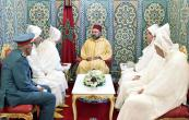 HM King Mohammed VI receives, in the Royal Palace of Tetouan, members of the official delegation heading for the Holy Sites of Islam to perform pilgrimage