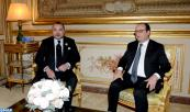HM the King Holds Talks with French President in Paris
