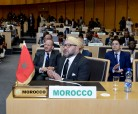 HM King Mohammed VI arrives to the headquarters of the African Union (AU) in Addis Ababa