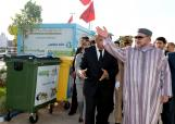 HM King Mohammed VI Visits a household and similar waste sorting and recycling center, in the industrial zone of Sidi Bernoussi, in the Greater region of Casablanca