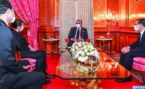 SM el Rey recibe a Saaid Amzazi y le encarga de las funciones de portavoz del Gobierno y a Othman El Firdaouss, a quien nombra ministro de Cultura, Juventud y Deportes