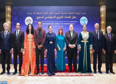 HRH Princess Lalla Hasnaa Chairs Annual Diplomatic Charity Gala Dinner in Rabat
