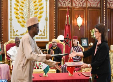 HM the King, Nigerian President Chair Signing Ceremony of Three Cooperation Agreements