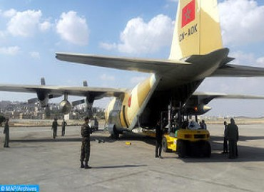 Four Moroccan Aircrafts Carrying Humanitarian Aid sent to Palestinian People Land in Egypt