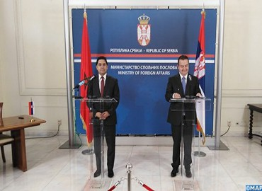Communiqué conjoint:Volonté partagée du Maroc et de la Serbie d'intensifier leurs relations bilatérales