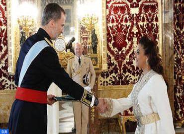 Moroccan Ambassador Hands Credentials to King Felipe VI of Spain