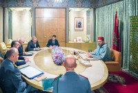 HM King Mohammed VI chairs, at the Royal Palace in Casablanca, a working session to monitor the management of the spread of the Coronavirus pandemic in our country and to continue taking measures to face any developments